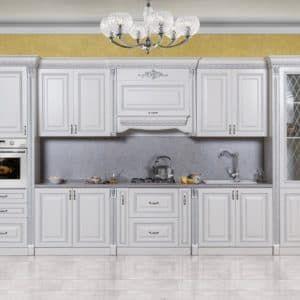 """Кухонная мебель «Аманта» серебро от производителя """"СКФМ"""""""