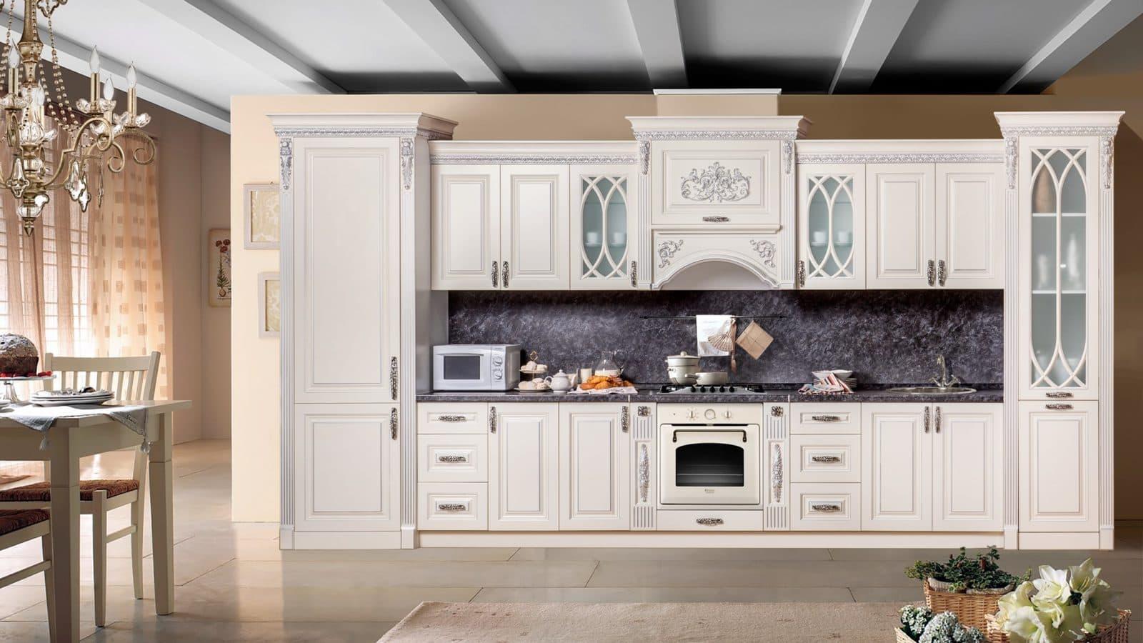 """Кухонная мебель """"Ариана серебро"""" от мебельной фабрики СКФМ"""