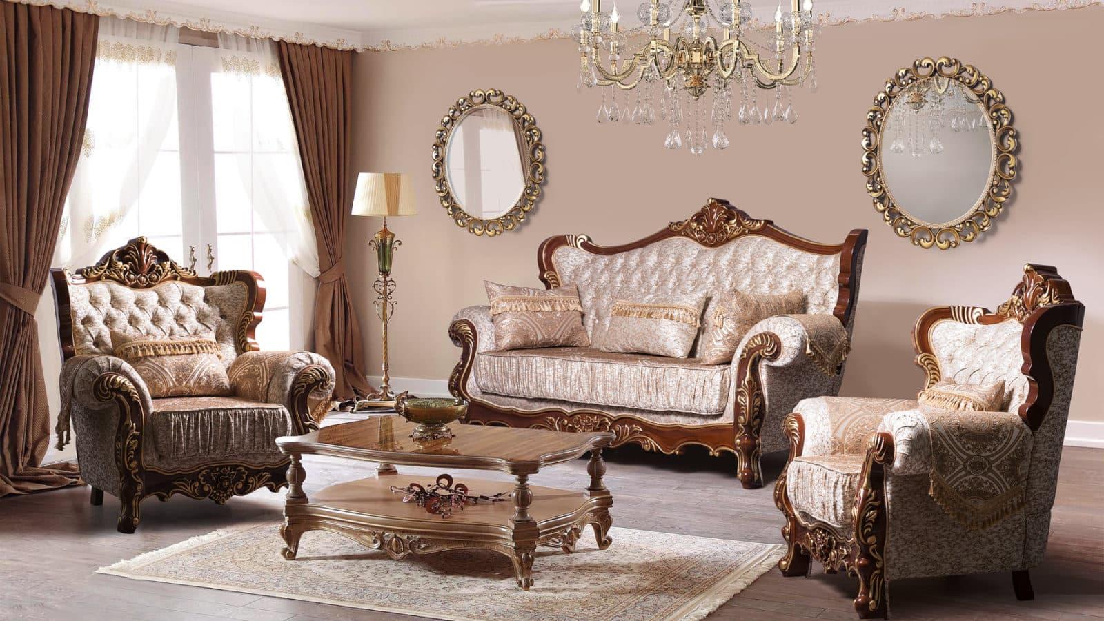 """Мягкая мебель """"Валенсия орех"""" бежевая от мебельной фабрики """"СКФМ"""""""