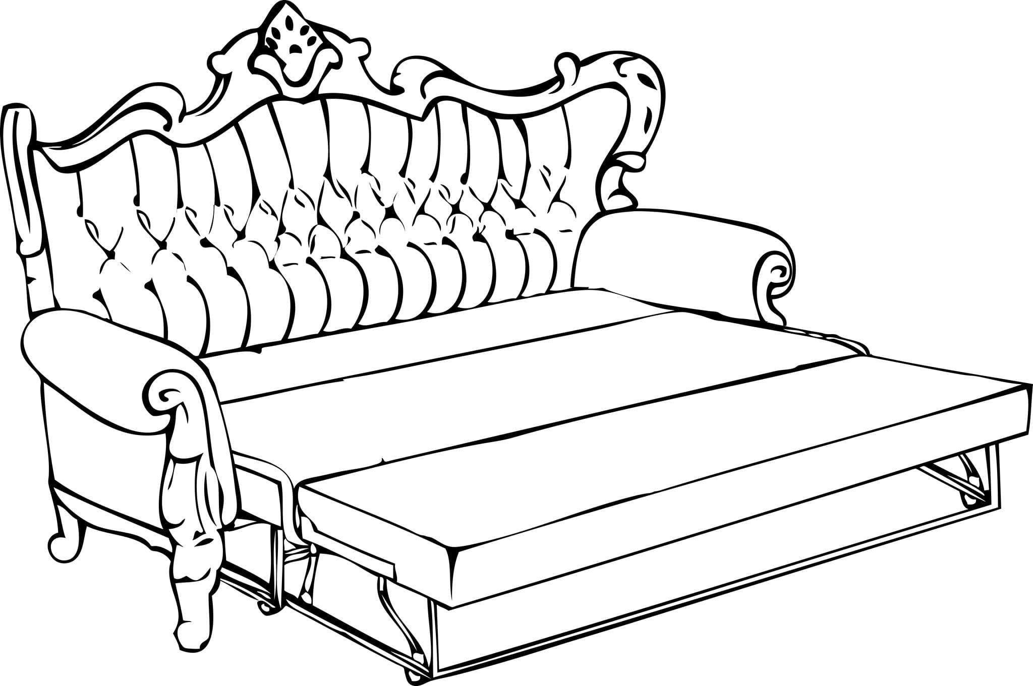 Механизм трансформации дивана — французская раскладушка